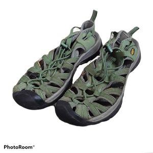 Keen Whisper Green Waterproof Hiking Sandals